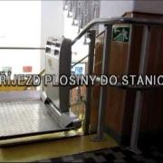 Schodišťová plošina MANUS Prostějov, Czech Republic - CPM 300 - manuální sklápění desky