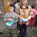 Naši kluci na rybářské soutěži