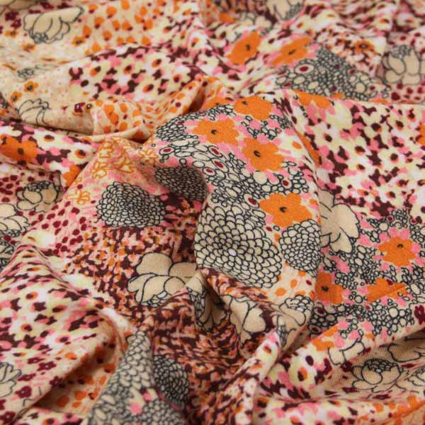 úplet oranžový květy, výprodej