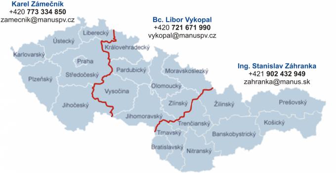 Obchodní zastoupení v ČR a SR