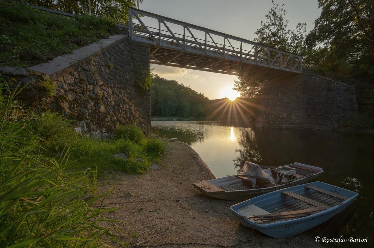 Železný most přes Bublačku je místem zvaným Kraví skok.
