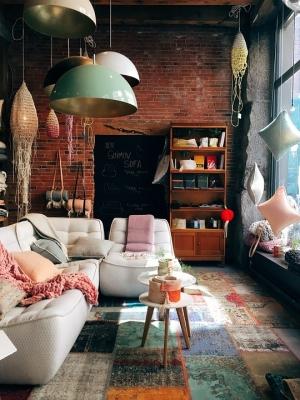 Obývací pokoj s vintage prvky
