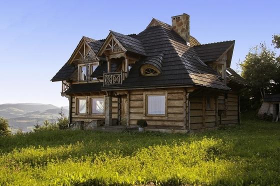 Horský dřevěný dům