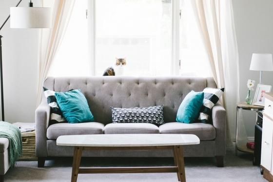 Textilní gauč