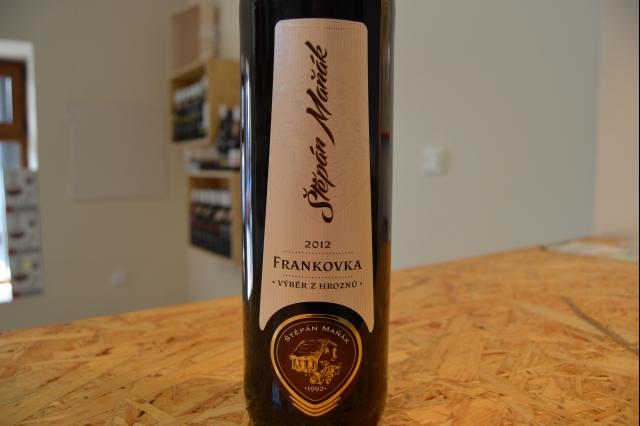 Frankovka Maňák 2012 - detail etikety