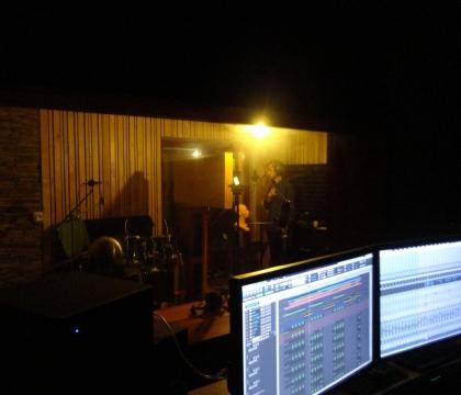Pohled z režie v nahrávacím studiu Ziki Records
