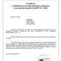 Reference: Osvědčení k montáži přechodek GÁZGÉP PE – OCEL