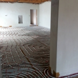 Topení s interiérovým kotlem