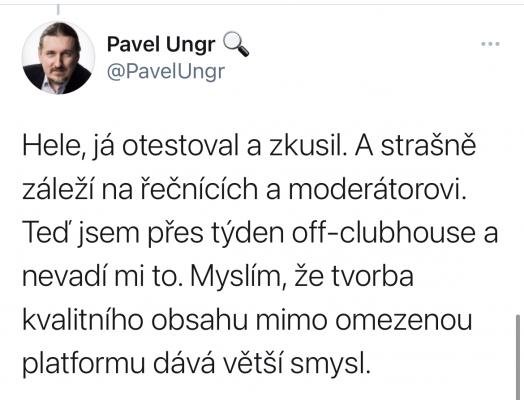 (Nejen) Twitter byl plný diskuzí o nové sociální síti Clubhouse. U předních českých marketérů se ne vždy setkala s úspěchem.