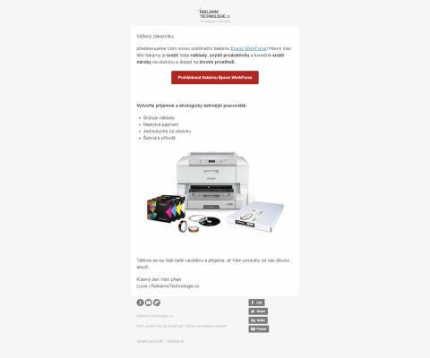 E-mailová kampaň zaměřená na jeden konkrétní produkt