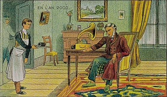 Na ilustraci vidíte uměleckou představu hlasových zpráv z roku 1910. A co nás čeká v nedaleké budoucnosti?