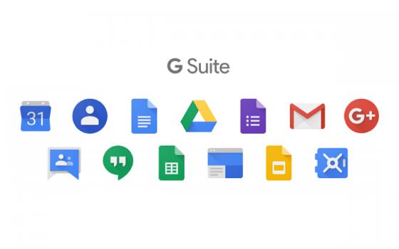 G Suite je balík online aplikací (pošta, kalendář, sdílený disk, dokumenty, videohovory), který nám umožňuje pracovat kdekoliv a z libovolného zařízení