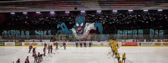 Hokejová základna prostějovských fanoušků