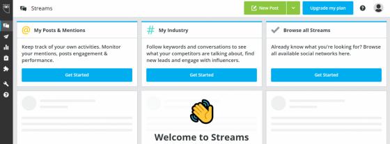 Hootsuite - ukázka rozhraní plánovače