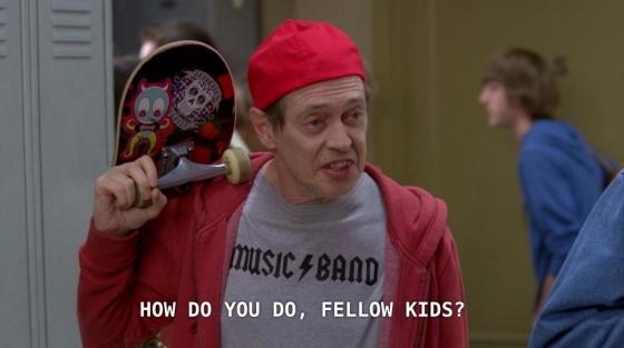 Postava detektiva Wosniaka ze seriálu 30 Rock převlečeného za středoškoláka.