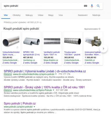 Reklamy s produktovými informacemi (PLA) ve vyhledávání Google
