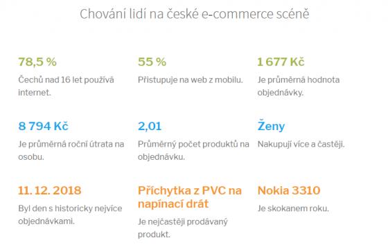 Navštivte web Česká Ecommerce. Najdete tam zajímavé údaje.