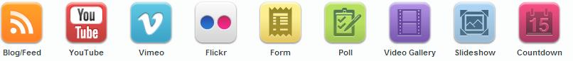 Příklady widgetů