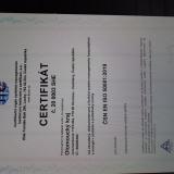 Certifikát managementu hospodaření  s energiemi