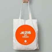Plátěná taška Ježíš na hrad