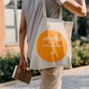 Plátěná taška Jesus for President