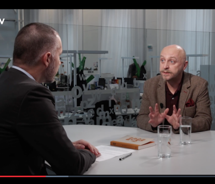 Interview on a well known internet television – DVTV.cz