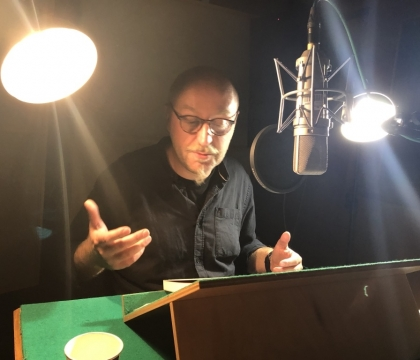 Recording an audio book in Czech National Radio
